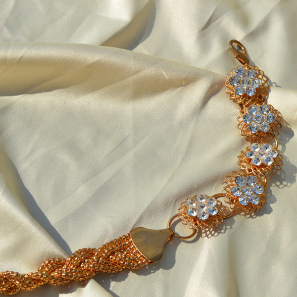 Vintage gold braid chain