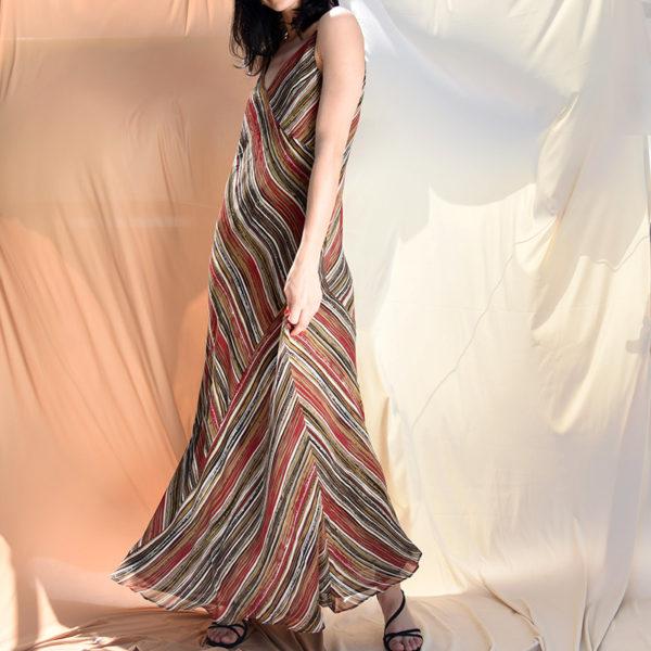 80's Maxi Sriped Dress