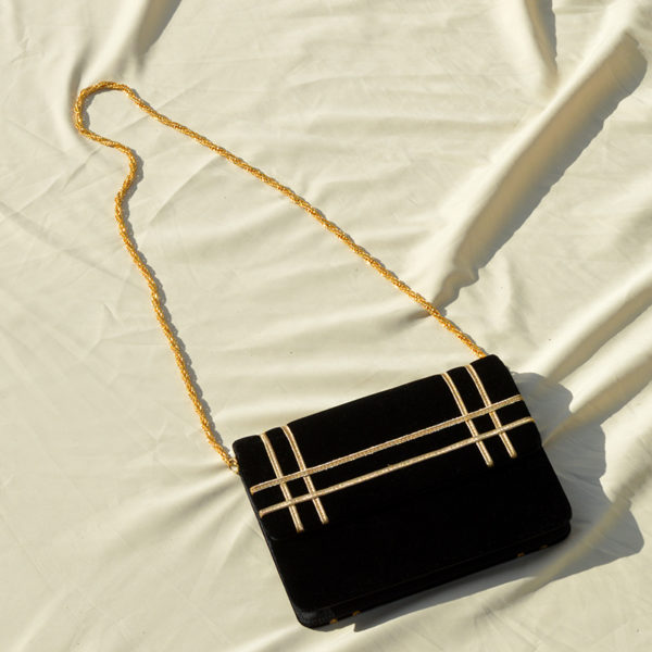 80's Black & Gold Purse