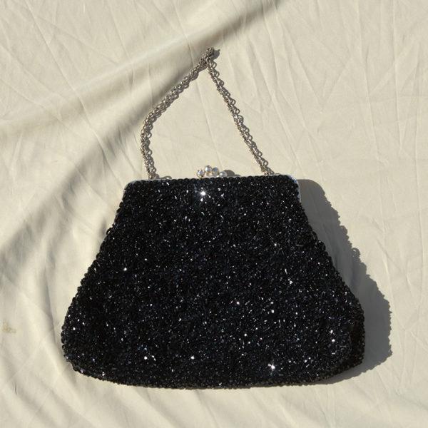 80's Sequins Black Purse