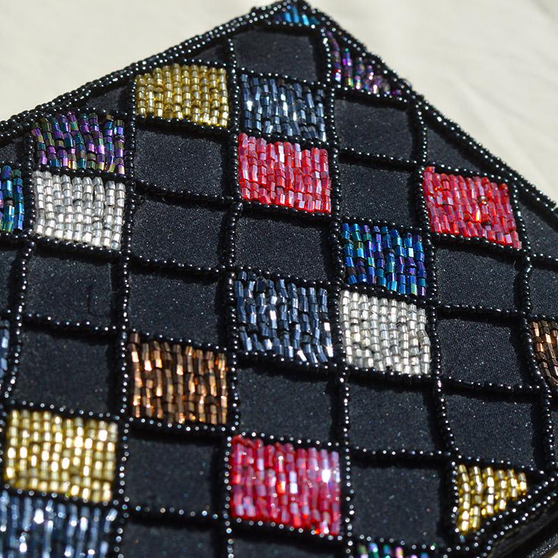 Vintage rainbow Sequins purse