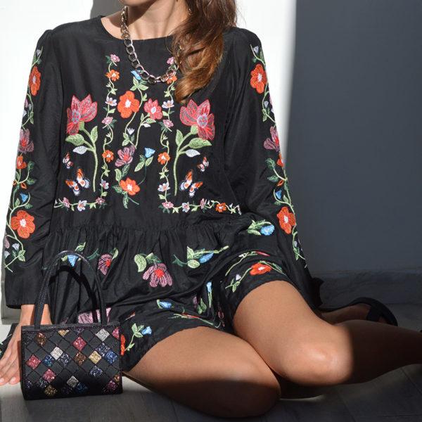 שמלה בהדפס פרחים