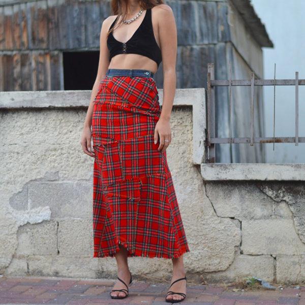 חצאית וינטג' מקסי