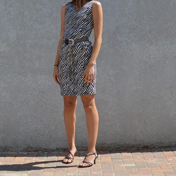שמלה בהדפס זברה